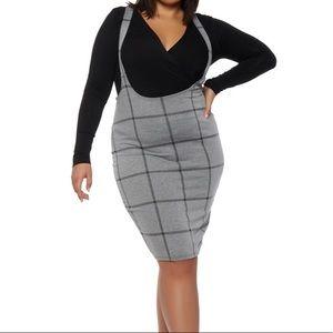 Suspender Skirt | Gray Plaid | 20